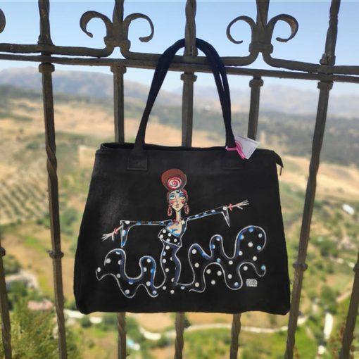 bolso pintado por carmen encinas hispania flamenco