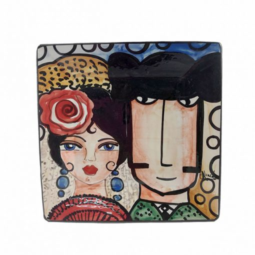 Plato Ceramica Catalina Alcaide Hispania Flamenco