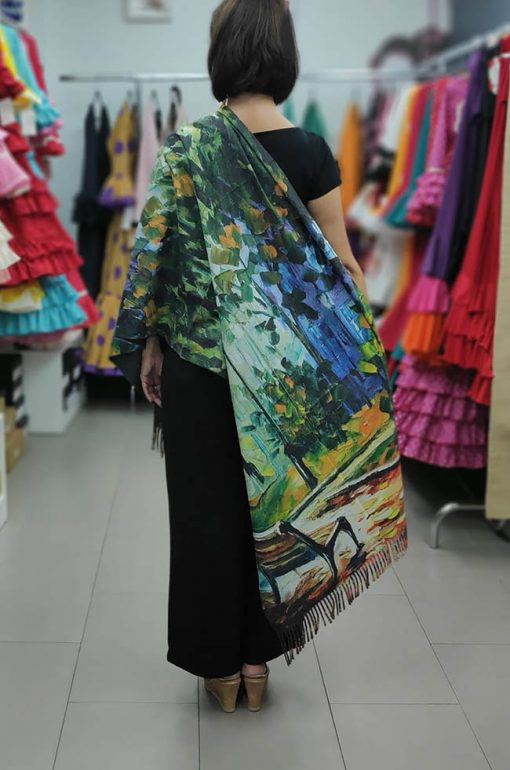 chal de cachemir hispania flamenco