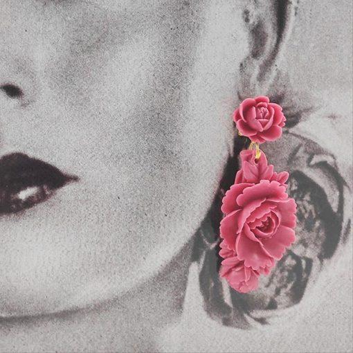 Pendiente resina fresa hispania flamenco