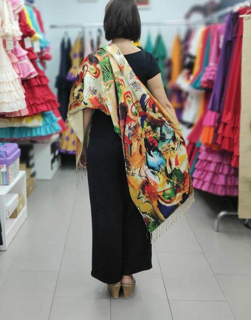 chal de seda hispania flamenco
