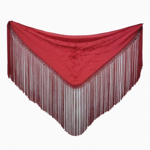 manton bordados en el mismo color hispania flamenco