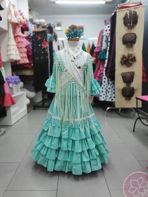 manton niña beige pertiñez hispania flamenco