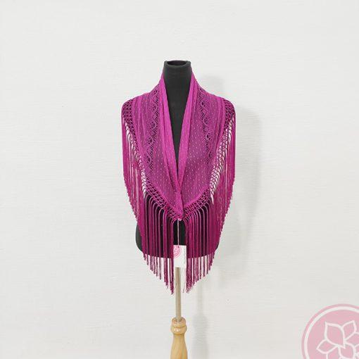 manton plumeti encaje bolillos hispania flamenco