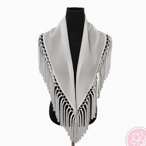 manton blanco hispania flamenco