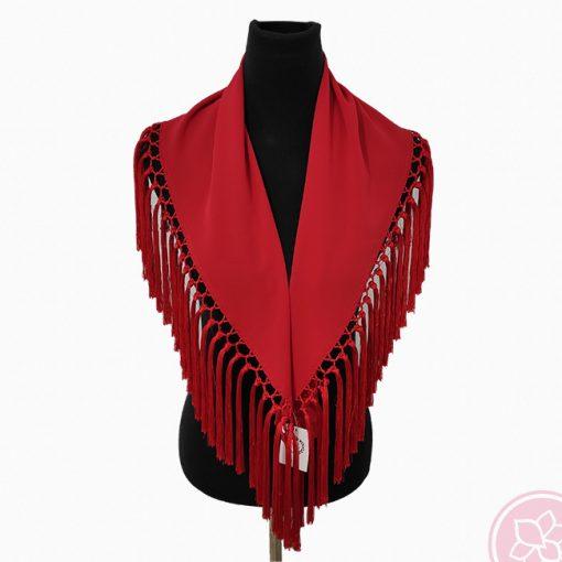 manton rojo hispania flamenco