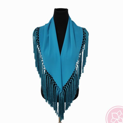 manton turquesa hispania flamenco